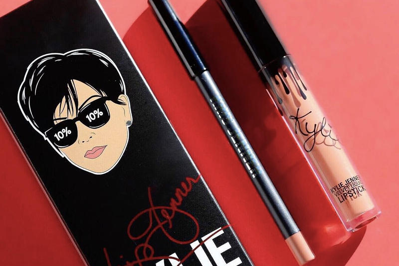 Kylie Cosmetics Kris Jenner Birthday Todd Kraines Prank Call Nude Peach Lip Kit