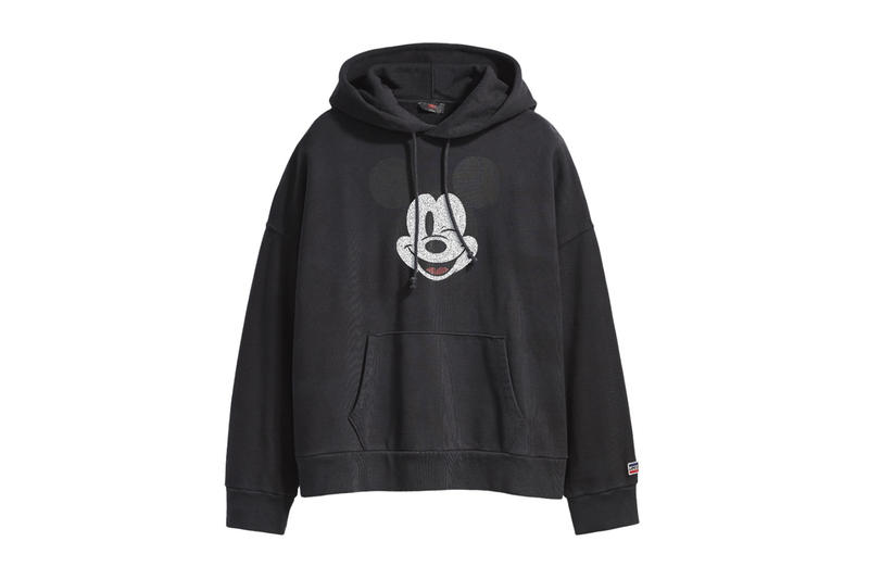 Disney Mickey Mouse x Levi's Collection Women's Unisex Hoodie Sweatshirt 501 Jeans Tote Bag Hat