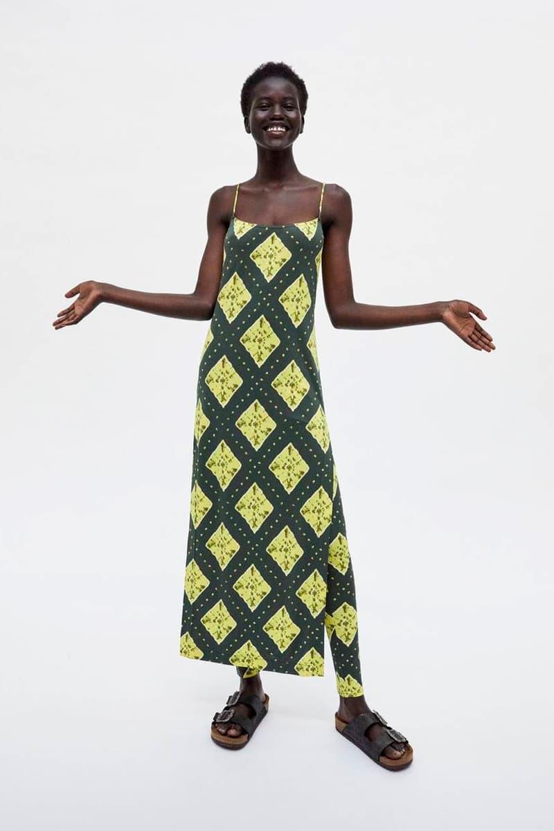 Marc Jacobs Resort 2019 Redux Collection Ikat Cami Dress Legging Yellow Blue