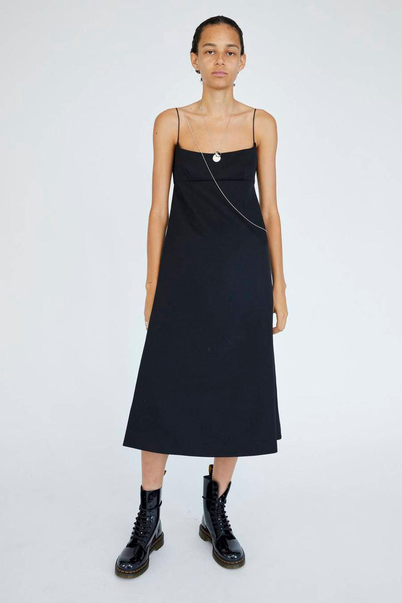 Marc Jacobs Resort 2019 Redux Collection Spaghetti Strap Dress Dr. Marten 10-Eye Leather Boot