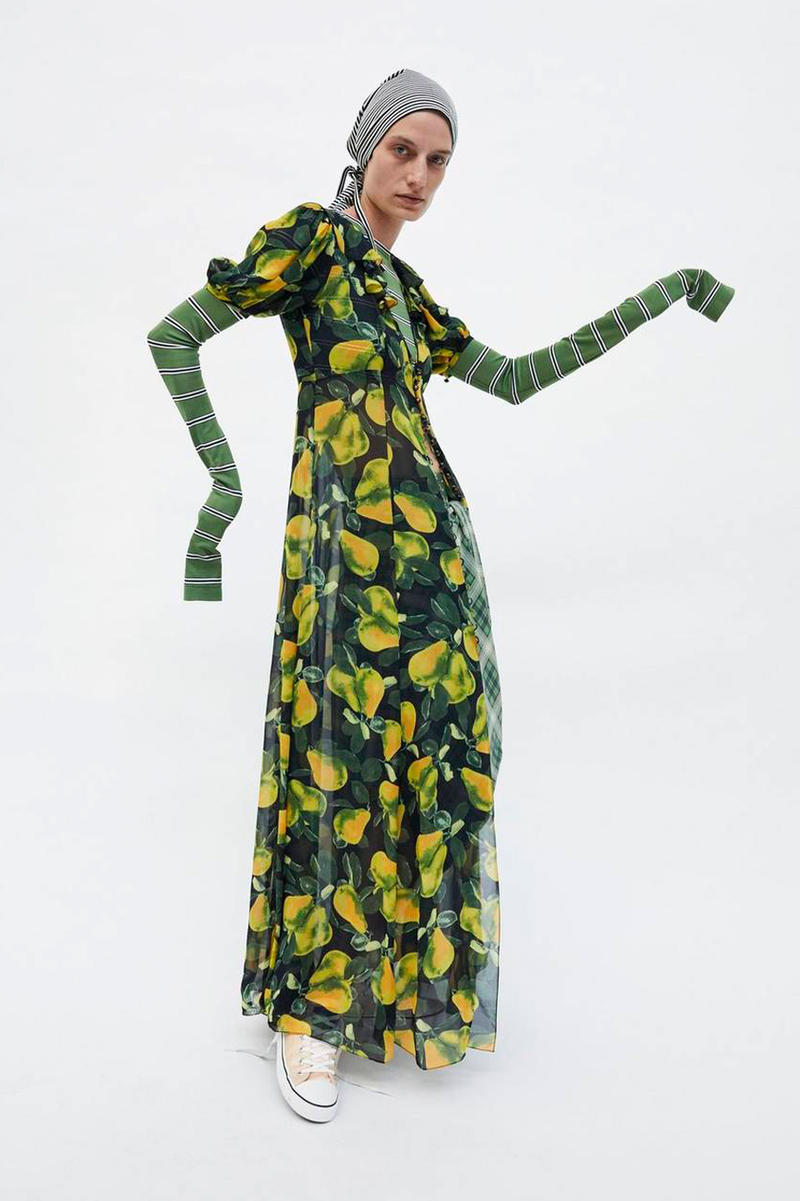 Marc Jacobs Resort 2019 Redux Collection Printed Button Down Dress Green Yellow