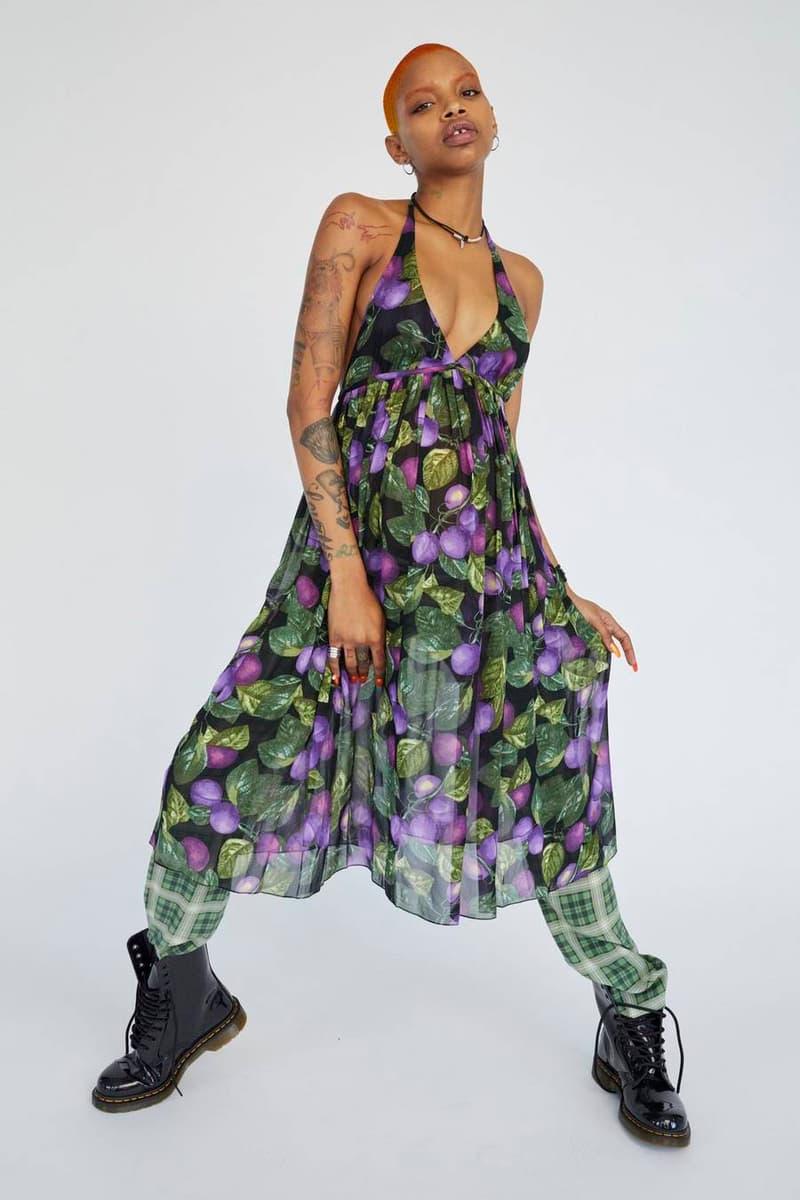 Marc Jacobs Resort 2019 Redux Collection Printed Halter Dress Purple Black