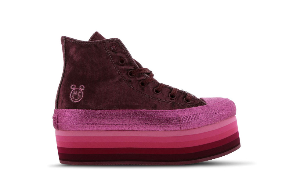 Miley Cyrus x Converse s New Chuck Taylor Platform Is Covered in Velvet    Glitter c14cd9dc9