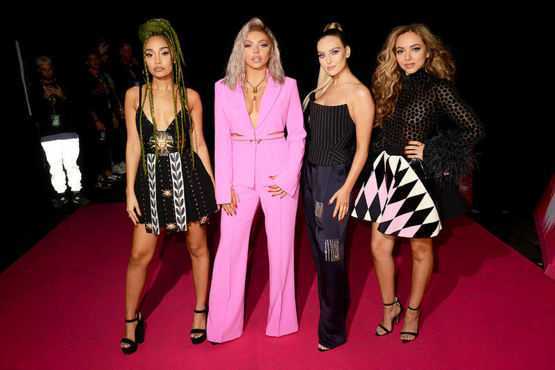 MTV EMA Red Carpet Celebrity Dua Lipa Little Mix Halsey Camila Cabello Hailee Steinfield Lindsay Lohan