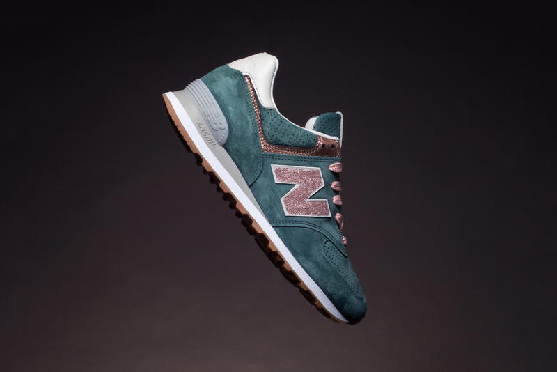 New Balance NB1 574 Swarovski Peacock