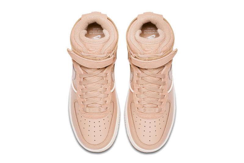 "Nike Air Force 1 Hi ""Bio Beige"" Sneaker Release Blush Pink"