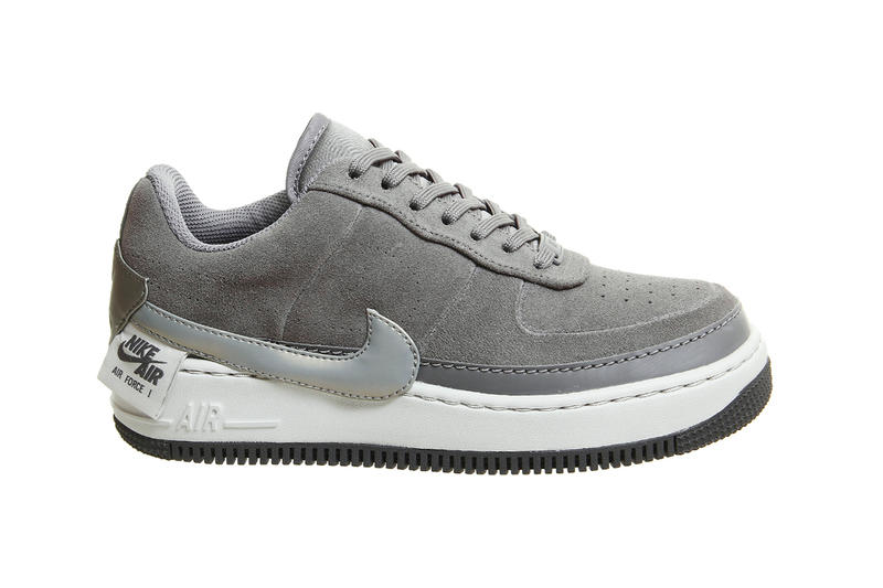 6171966413c3ed Nike Air Force 1 Jester XX Suede Sneakers Gunsmoke Grey Desert Sand nude  Trainers