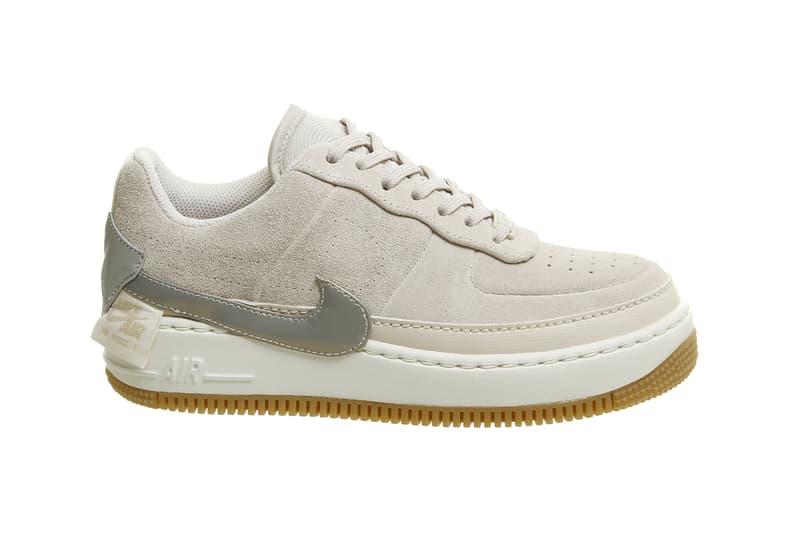 Nike Air Force 1 Jester XX Suede Sneakers Gunsmoke Grey Desert Sand nude  Trainers 9637c9384