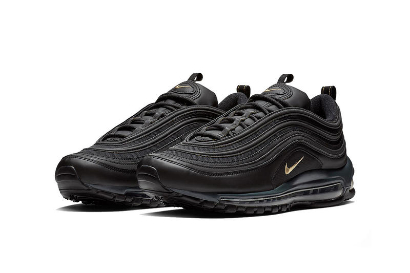 official photos c7c0f 77eb5 Nike Air Max 97 Black Metallic Gold Anthracite