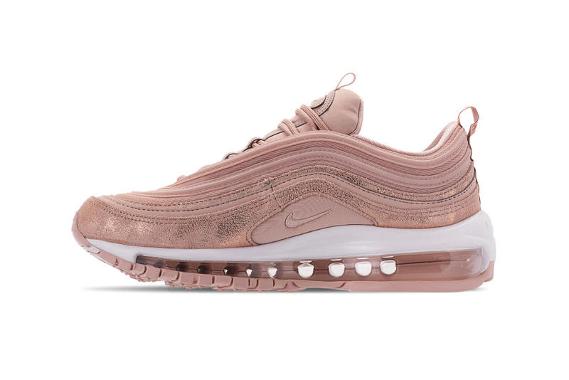 Nike Air Max 97 Burgundy Crush Particle Beige Metallic Women's Sneakers Trainers