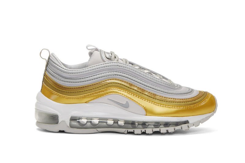Nike Air Max 97 in Metallic Gold and Silver Sneaker Where To Buy Retro Black White