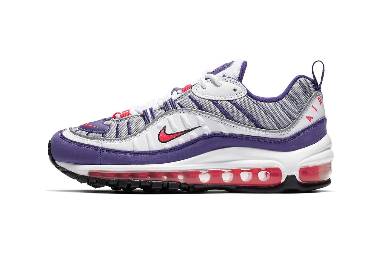 purple air max sneakers