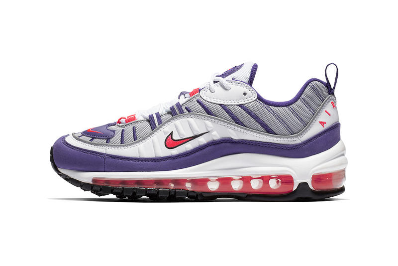 35a1cba613 Nike Purple Red White Air Max 98 Retro Women's 90s Trainers Sneakers