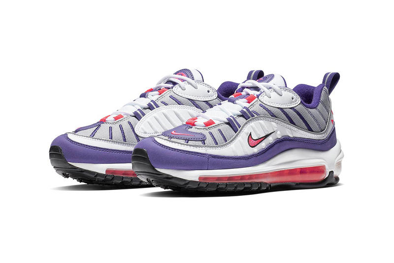 d4bc35cae4b4 Nike Purple Red White Air Max 98 Retro Women s 90s Trainers Sneakers