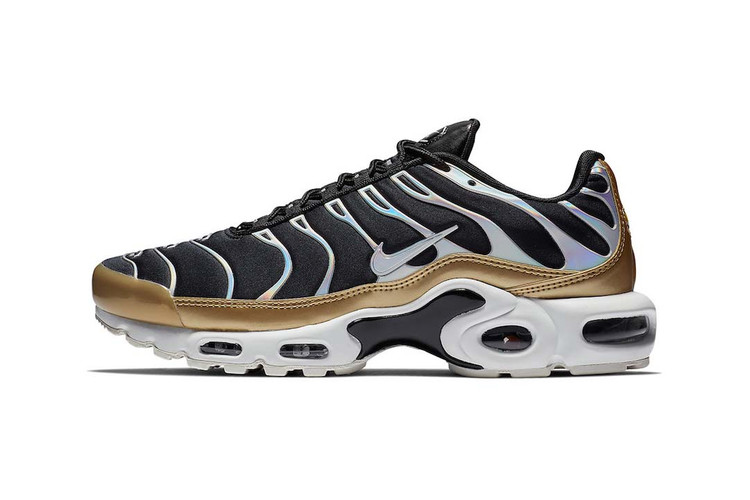 4b9de10fcc9 Nike s Air Max Plus Goes Luxe in Black and Gold