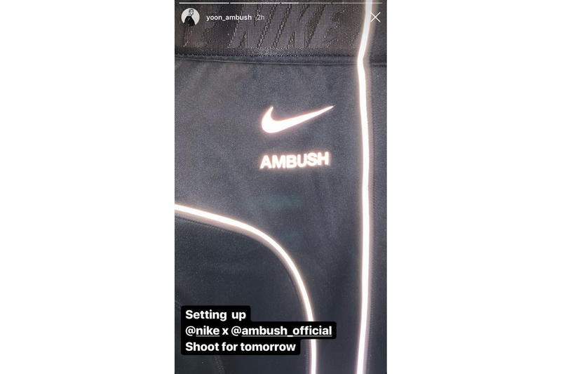 Nike AMBUSH Fur Jacket T Shirts Logo