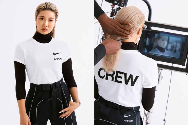 Yoon Ahn Ambush Nike T-shirt Swoosh Logo T-Shirt Crew White