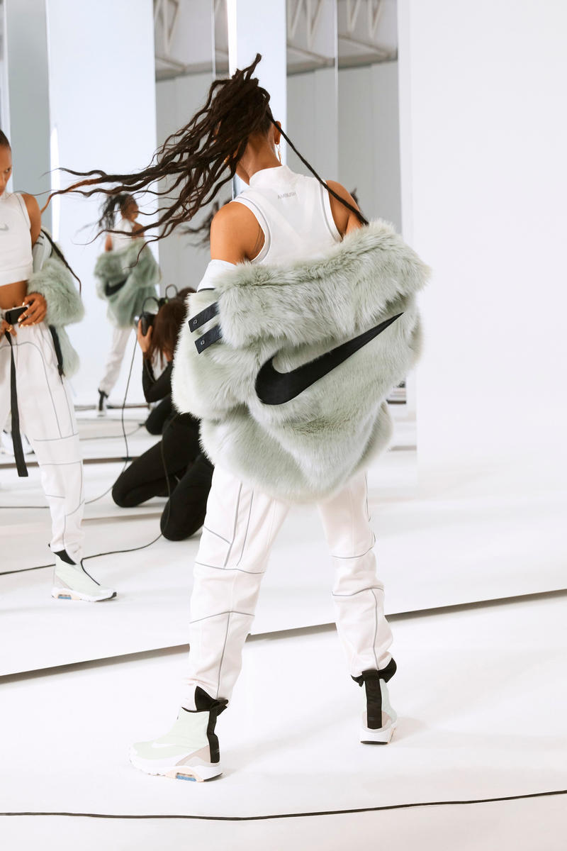 Ambush Nike Yoon Ahn Collaboration Logo Swoosh Adesuwa green fur jacket Air Max 180