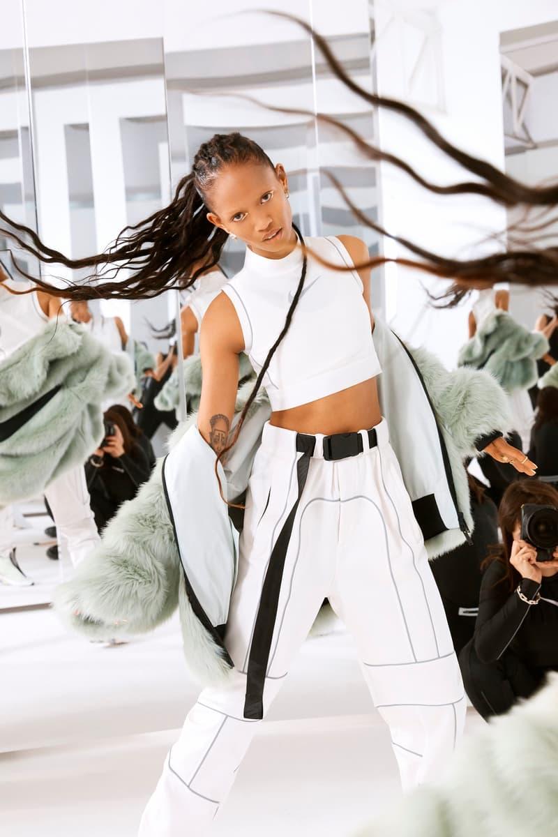 Ambush Nike Yoon Ahn Collaboration Logo Swoosh Adesuwa green fur jacket Air Max 180 Crop Top 3m track pants
