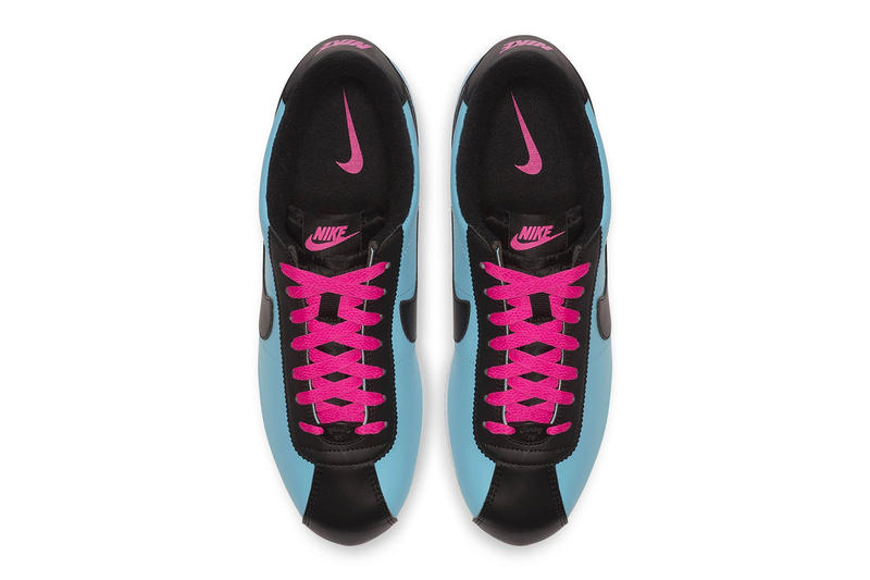 Nike Cortez Blue Gale/Laser Fuchsia White/Black Sneaker Blue Pink Shoe Footwear Fall Winter Trainer Crep