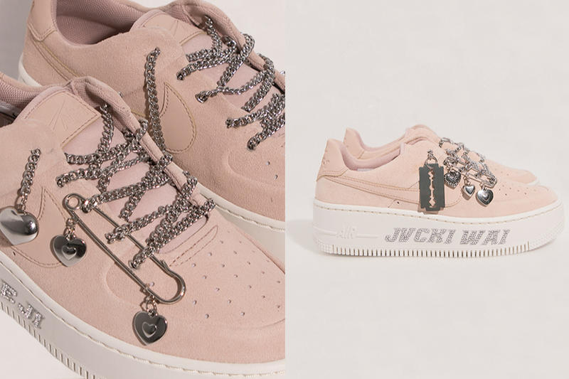 MISCHIEF x Nike Air Force 1 Sage Low Pink White