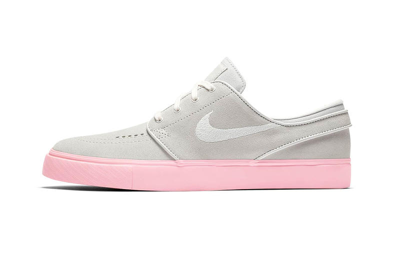 b11cc6f8bd3d35 nike sb stefan janoski skate shoe sneaker vast grey bubblegum pink  skateboarding