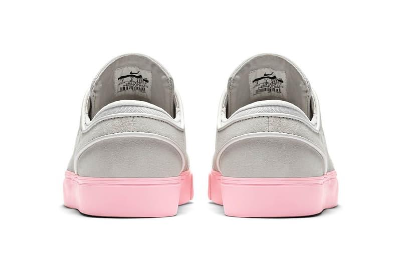 nike sb stefan janoski skate shoe sneaker vast grey bubblegum pink skateboarding