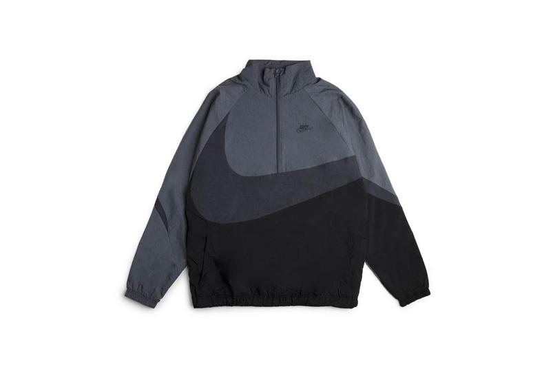 Nike Sportswear Swoosh Jacket Gray Cream