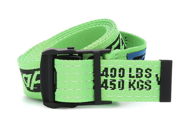 Off-White Neon Fluorescent Green Industrial Belt