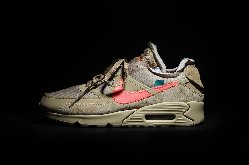 "Off-White x Nike Air Max 90 ""Desert Ore"" Virgil Abloh Collaboration Sneaker Shoe"