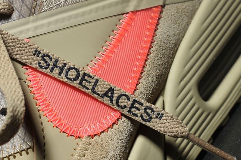 "Off-White x Nike Air Max 90 ""Desert Ore"" Virgil Abloh Collaboration Sneaker Shoe"