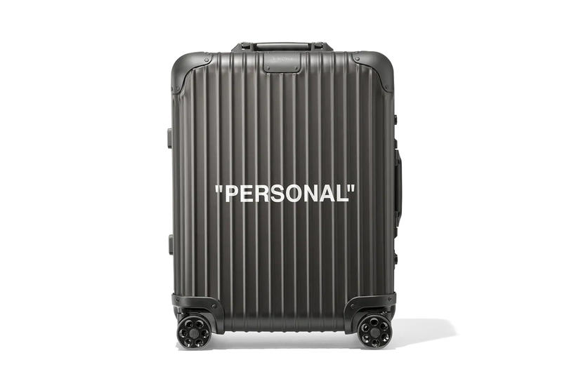 Off-White x RIMOWA Personal Belongings Suitcase Virgil Abloh Black Industrial Strap Travel Case Bag Design Collaboration