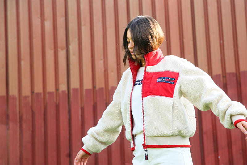 pam pam london tommy jeans vintage inspired editorial 90s puffer jackets sherpa fleece