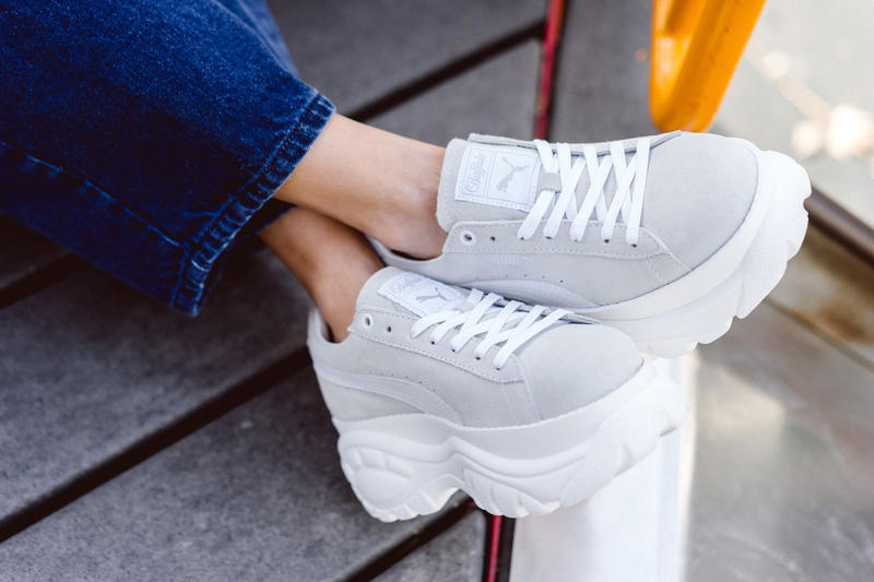 PUMA Buffalo London Suede Platform Sneaker Gray