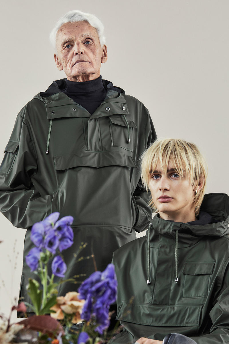 Rains Fall/Winter 2018 Campaign Glossy Camp Anoraks Green