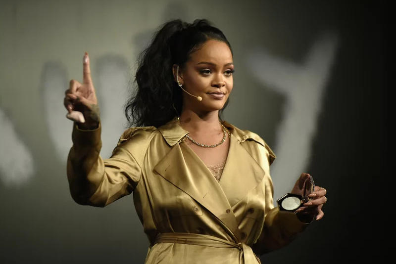 Rihanna Dress Gold