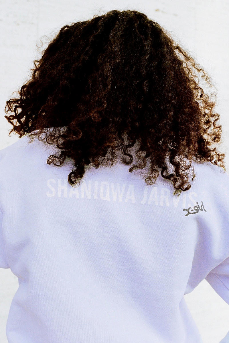 Shaniqwa Jarvis x X-Girl Capsule Collection Crewneck Sweater Purple