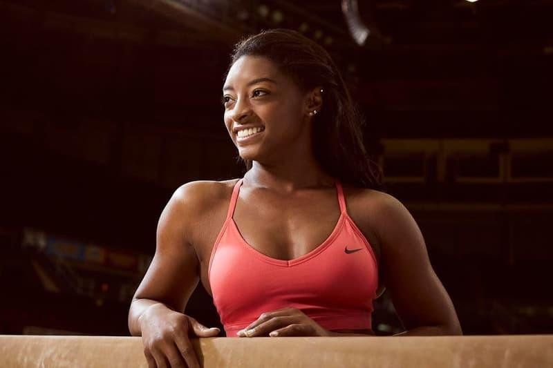 Simone Biles Nike Sports Bra Red