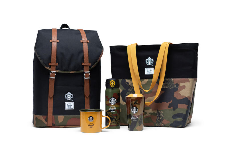 Herschel Supply Starbucks Winter Collaboration Tumblr Backpack Bag Camo Print Fashion Christmas Starbucks China