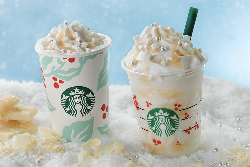 Starbucks Japan White Hot Chocolate Snow Frappuccino Christmas Menu