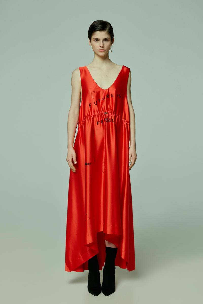 TATTOOSWEATERS Fall Winter 2018 Collection Lookbook Silk Dress Red