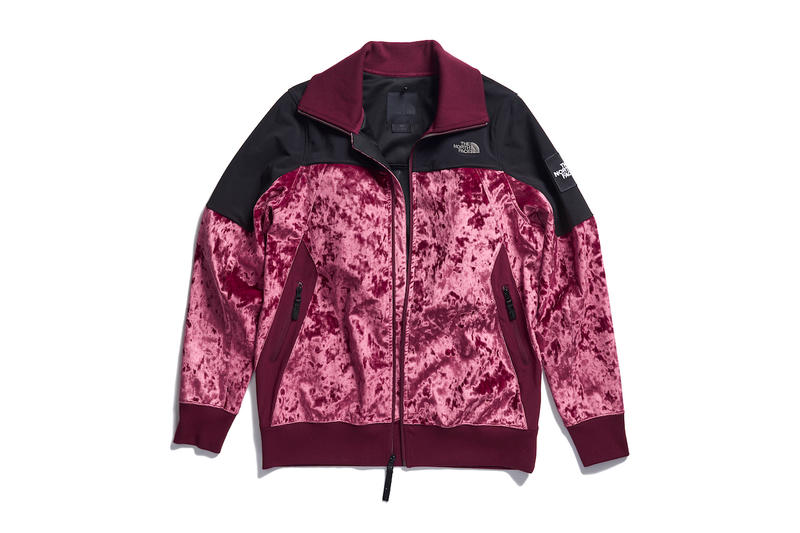 The North Face Black Series Velvet Collection Jacket Puffer Down Outerwear Satin Pink Red Blue White Black Grey Pants