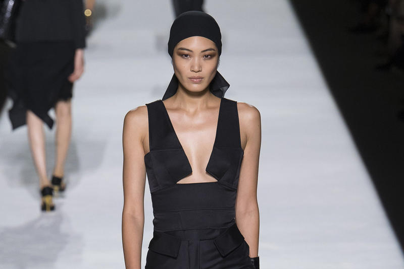 Tom Ford Spring Summer 2019 New York Fashion Week Show Collection Chiharu Okunugi Dress Black