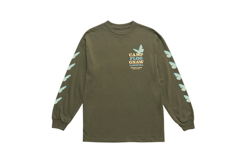 Tyler, The Creator Camp Flog Gnaw 2018 Merch Long Sleeve T-shirt Green
