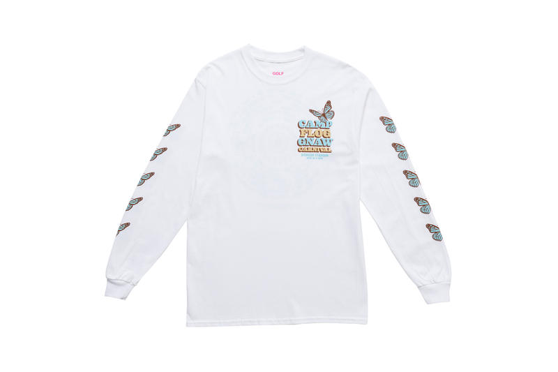 Tyler, The Creator Camp Flog Gnaw 2018 Merch Long Sleeve T-shirt White