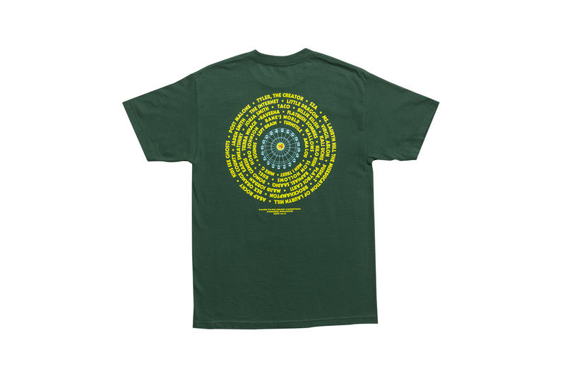 Tyler, The Creator Camp Flog Gnaw 2018 Merch T-shirt Green