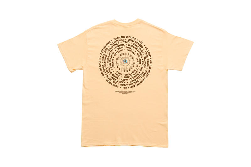 Tyler, The Creator Camp Flog Gnaw 2018 Merch T-shirt Tan