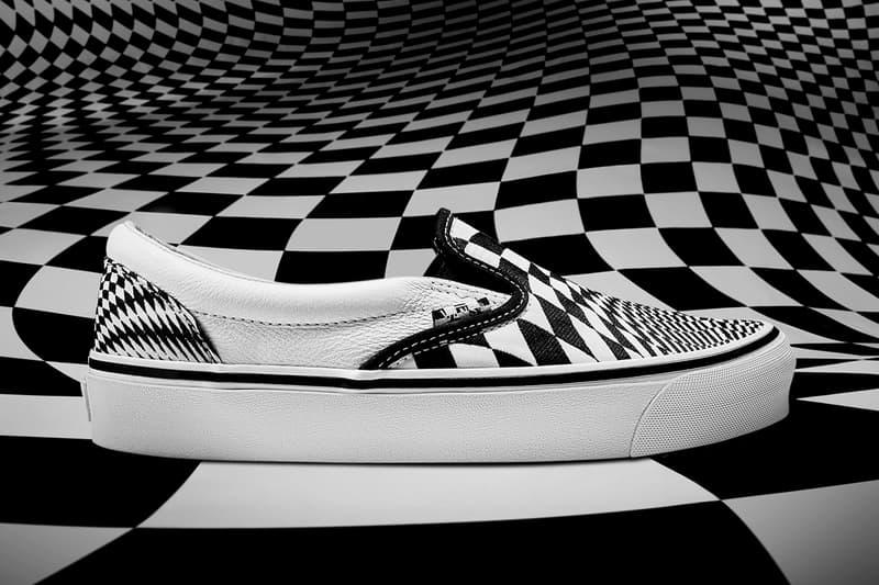 END Vans Vertigo Slip-On Old Skool Sneakers Collaboration Checkerboard Trainers