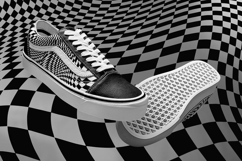 END Vans Vertigo Slip-On Old Skool Sneakers Collaboration Checkerboard Trainers