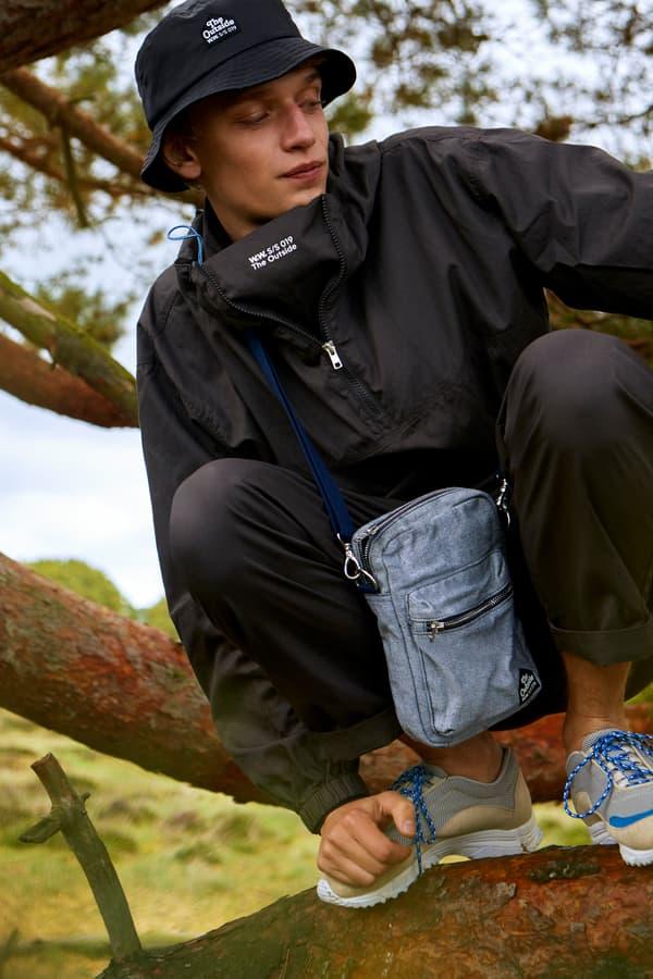 Wood Wood Spring Summer 2019 Lookbook Jacket Bucket Hat Sweatpants Black